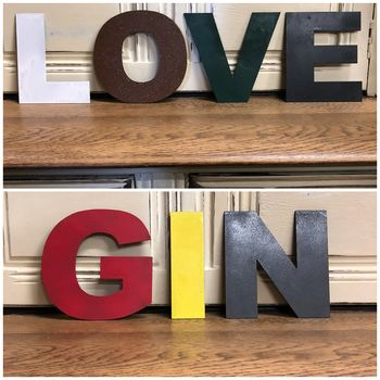 Five Inch Coloured Metal Letters Sign Make Any Word