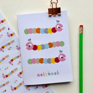 Caterpillar Notebook Party Bag Filler, Stocking Filler