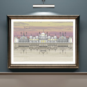 Brighton Pavilion Full Sunset Architectural Print