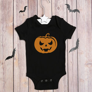 Halloween Pumpkin Bodysuit - babygrows