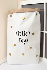 Personalised Heart Pattern Paper Storage Bag - storage