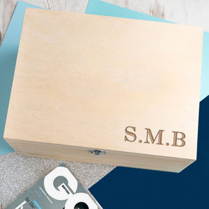 Mens Engraved Initials Personalised Jewellery Box - summer sale