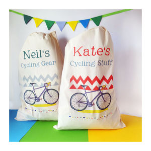 Personalised Cycling Storage Bag - gifts under £25