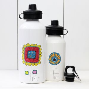 Personalised Flower Water Bottle - home
