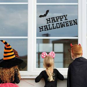Happy Halloween Window Sticker Decoration - party decorations