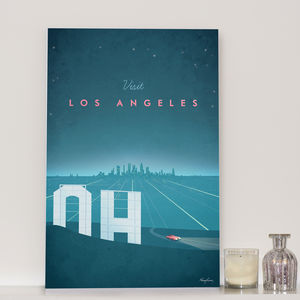 'Visit Los Angeles' Travel Poster - shop by subject