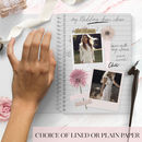 Personalised Wedding Notebook 'Blossom'