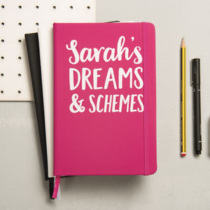 Personalised Dreams And Schemes Notebook - notebooks & journals