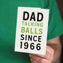 Personalised Talking Balls Since Card