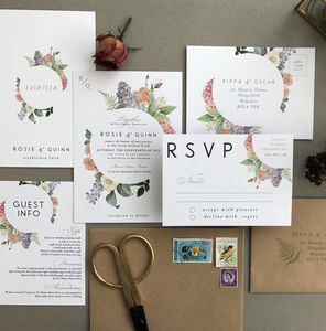 Botanical Bloom Wedding Invitation Set - invitations