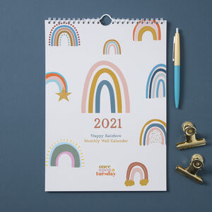 2021 Happy Rainbow Calendar