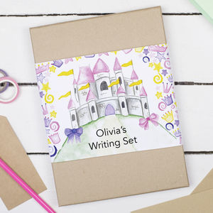 Personalised Princess Children's Writing Set - winter sale