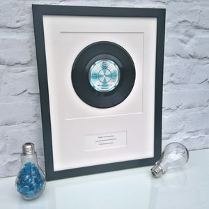 Personalised Framed Vinyl Record - wedding gifts