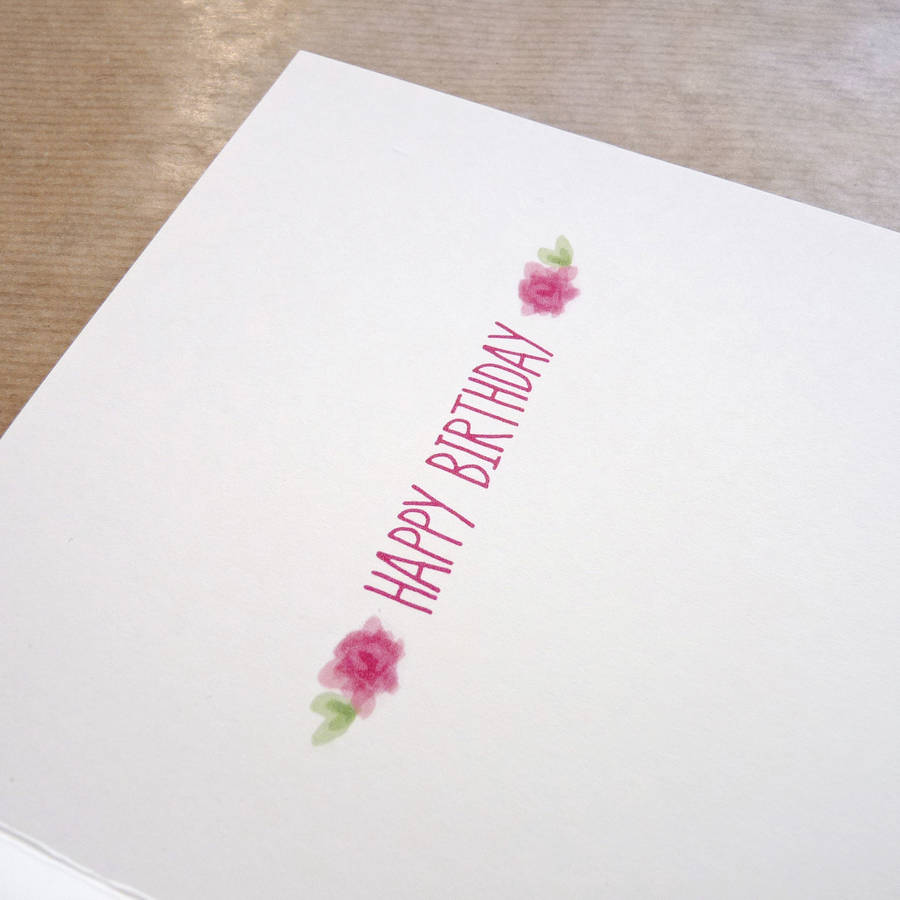 Personalised Felt Letter Floral Daughter Birthday Card