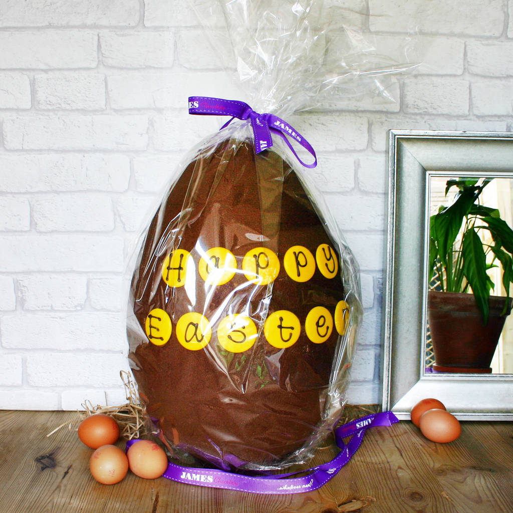Giant easter egg by james chocolates notonthehighstreet giant easter egg negle Gallery
