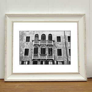 Balcony, Venice, Signed Art Print - photography & portraits