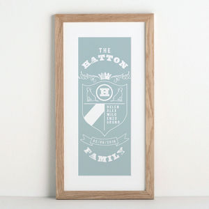 Family Crest Personalised Print