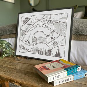 Personalised Travel Adventures Map Print