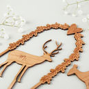 Wooden Stag Wedding Cake Topper