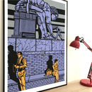 Newton Statue London Limited Edition Print