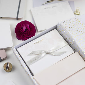 Luxury Personalised Correspondence Card Set - gifts for mothers