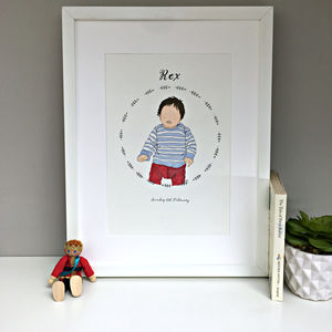 Personalised Child Portrait Illustration - nursery pictures & prints