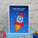 Personalise the card for a special son, grandson, nephew, dad, uncle, grandpa etc
