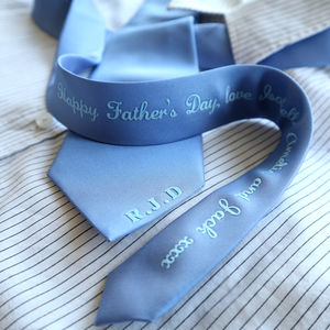 Personalised Initials, Greeting And Secret Message Tie - gifts for fathers