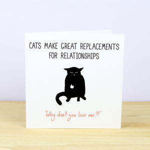 My Cat Is My Significant Other Anti Valentine's Card