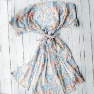 Something Blue, Personalised Kimono Gown - gifts for the bride