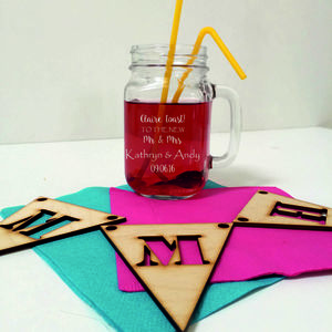 Personalised Mason Jars For Wedding Favours - jugs & bottles