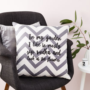 Personalised In My Garden Cushion - cushions