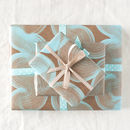 geometric blue wave paper to gift wrap your mother's day gift in
