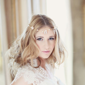 Llorelei Bridal Browband Headdress - bridal hairpieces