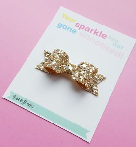Glitter Hair Bow Gift Card
