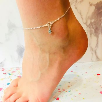 Compass Genuine Diamond Anklet