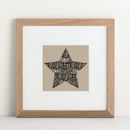 Star Personalised Print