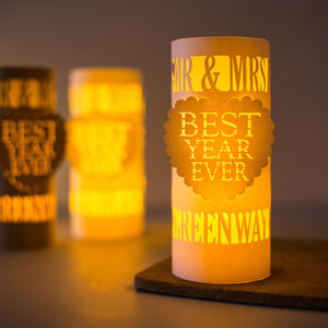 1st Anniversary Best Year Ever Personalised Lantern