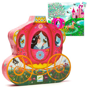 Princess Carriage Silhouette Jigsaw 54 Pcs - toys & games