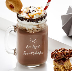 Personalised Freakshake Mason Jar - glassware