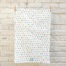 Colourful Hand Drawn Dotty Cotton Tea Towel