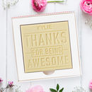 Personalised 'You're Awesome' Chocolate Card