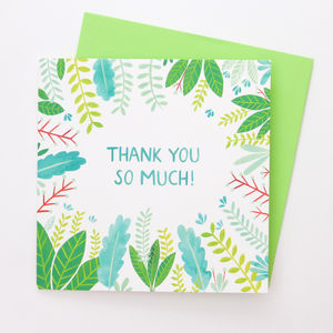 A Leafy 'Thank You So Much' Card - shop by category