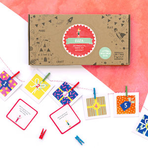 Personalised Kids Advent Calendar With Experiences - advent calendars & countdowns