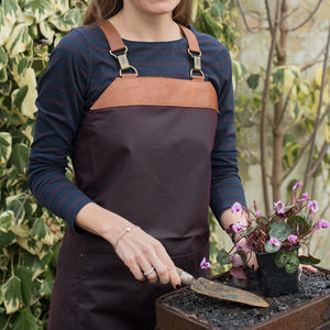 Personalised Atelier Waxed Cotton And Leather Apron - new in
