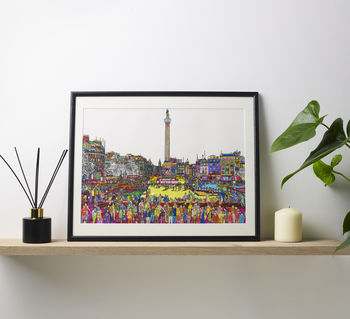Trafalgar Square Multicoloured Illustration Print