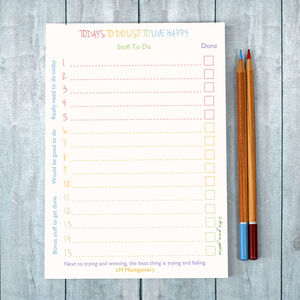 Today's To Do List Note Pad - notepads & to do lists