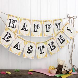 Easter Bunting, Easter Party Decoration - decoration