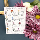 Custom Floriography Bouquet Print