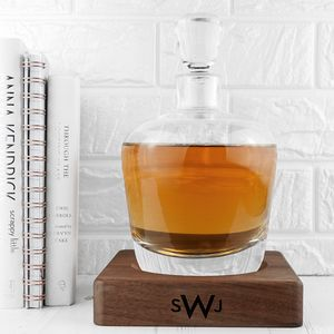 Personalised Whisky Decanter And Walnut Base
